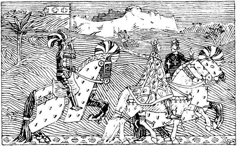 Sigurd trifft König Balduin von Jerusalem am Jordan.